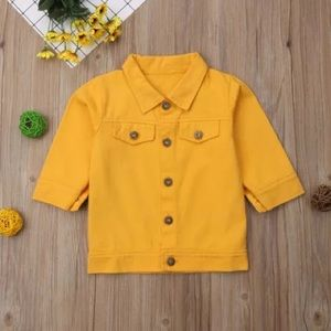 Other - Toddler Yellow Denim Jacket  Sizes 2T-5T
